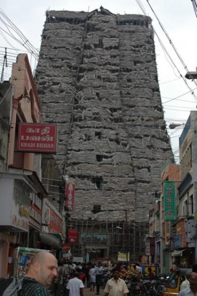 Гопурам храма Минакши