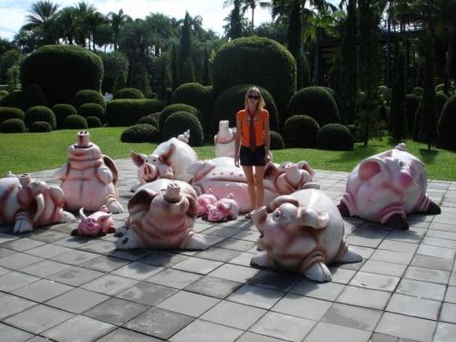 среди свиней %))