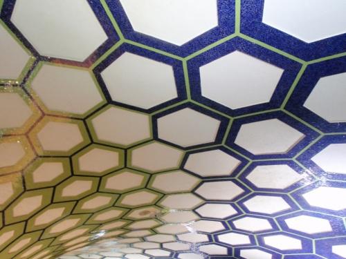 потолок из мозаики