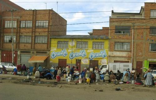 Это уже Ла Пас. Город, сильно напомнивший мне Индию.