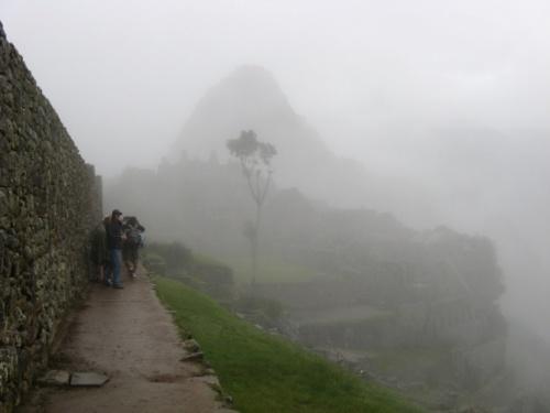 с утра Мачу в тумане...