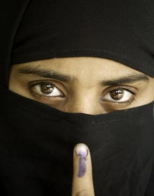 проголосовала