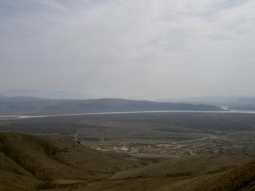 вид с горы Догээ на начало Енисея