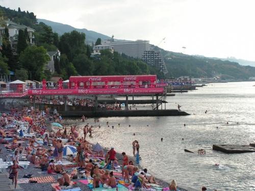 Массандровский пляж со стороны центра. 7-40 утра