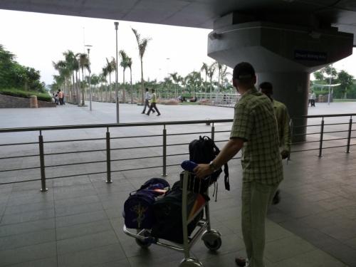 Спустились вниз аэропорта