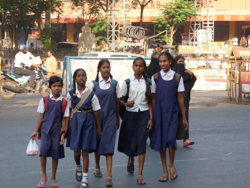 Школьницы Хайдерабада