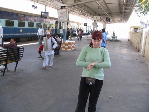 Моя жена на станции