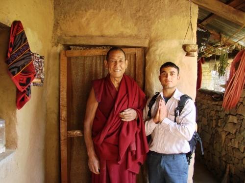 в лесном монастыре над Дхарамсалой