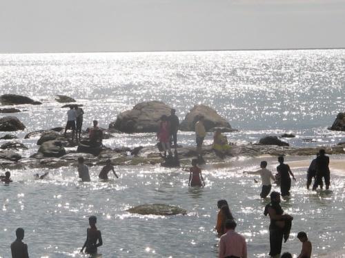 купание в Каньякумари