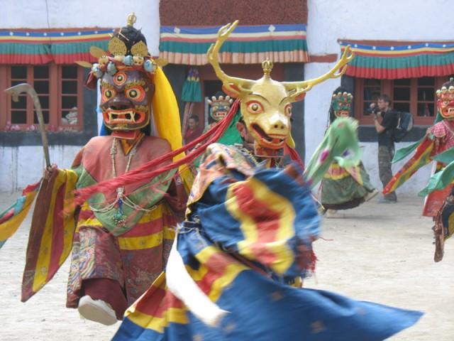 Танцы в масках в монастыре Пхьянг, Ладакх
