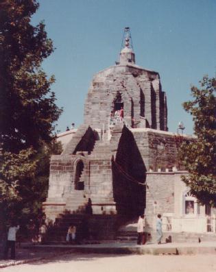 Храм Шивы на Холме Шанкарачарьи