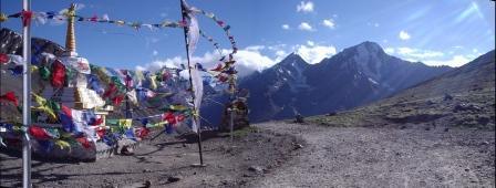 вид со следуещего перевала Кунзум Ла