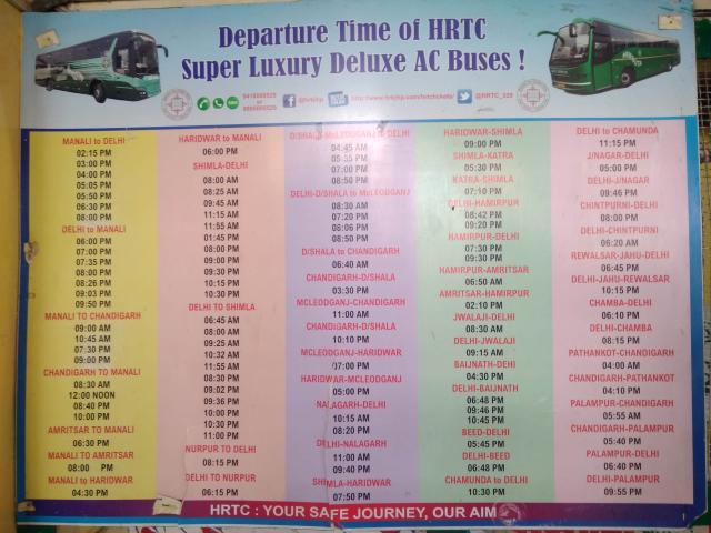 1 bus schedule
