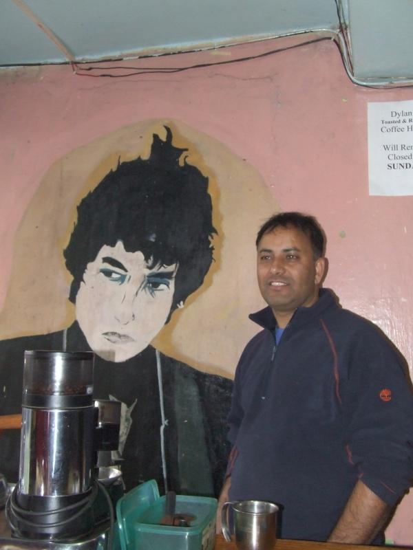 Bob Dylan и его друг - хозяин кафе