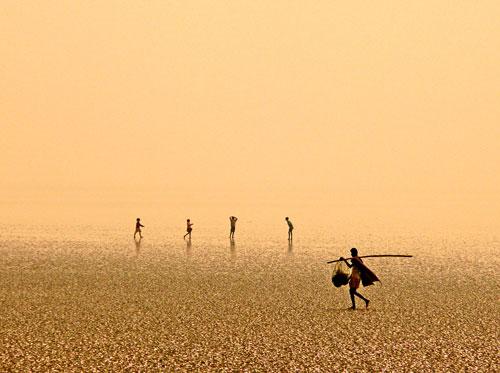 На пляже в Чандипуре