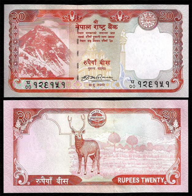 20 непальских рупий