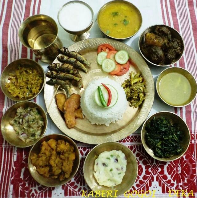 Рыбное тали по-ассамски (assamese special thali)