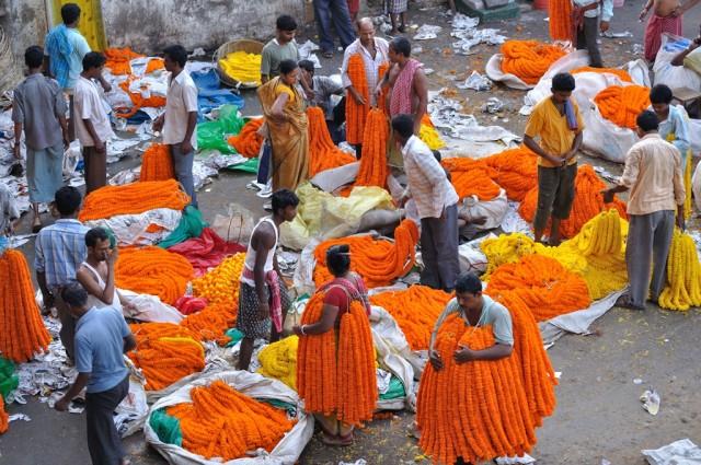 Цветочный рынок на Маллик Гхате