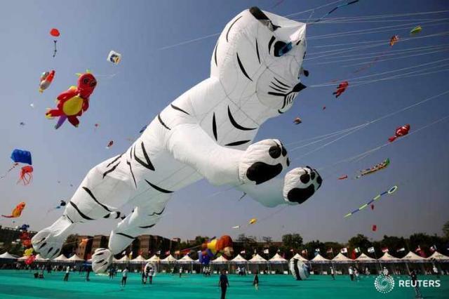Фестиваль воздушных змеев в Ахмедабаде (с) Reuters