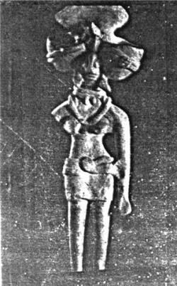 Статуэтка богини. Хараппская цивилизация