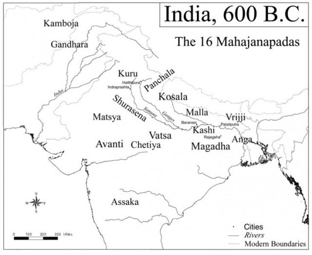 Карта арийских царств в ведическую эпоху