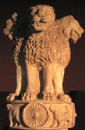Капитель колонны Ашоки, герб Индии