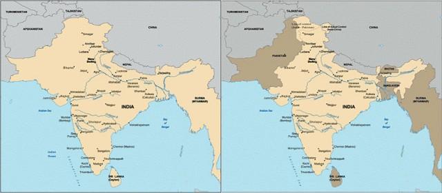 Индия до и после обретения независимости