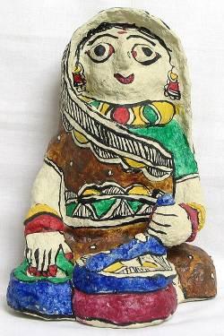 Игрушка из папье-маше в народном стиле (штат Бихар, Индия)