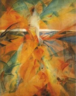 """Гаганендранат Тагор. """"Поэт Рабиндранат на острове птиц"""". 1920-е г."""