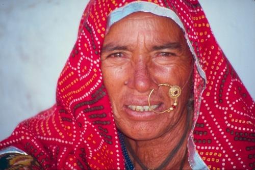 Женщина из рода раджпутов, Раджастан, Индия