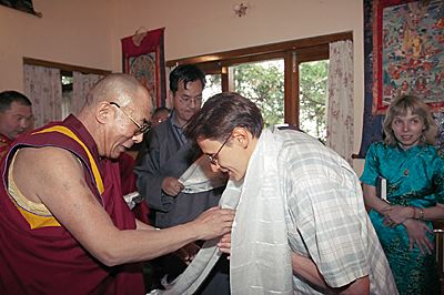 Далай-Лама ХIV в своей резиденции в Дхарамсале