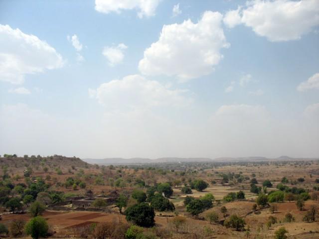 Вид на окрестности из павильона Рупмати