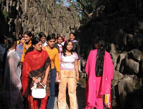 А это индийские девушки гуляют.