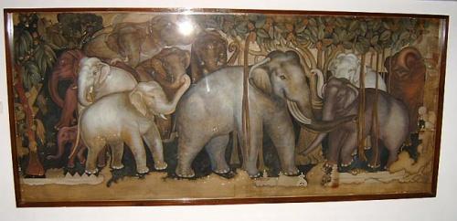 Картина со слониками.