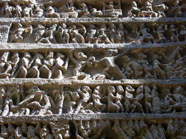 "Эллора. ""Рамаяна"" на стене храма Кайлаш"