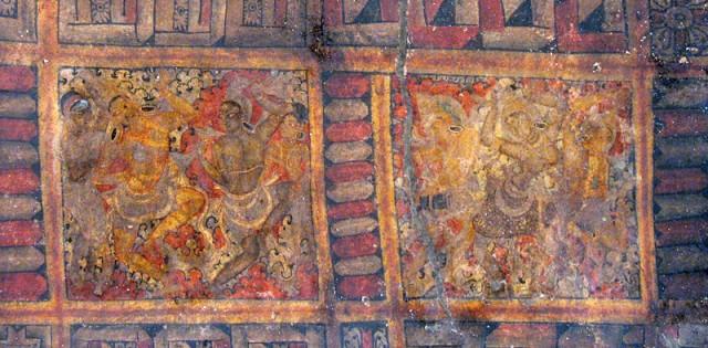 Эллора. Храм Кайлас. Внутри храма. Фрагмент росписи