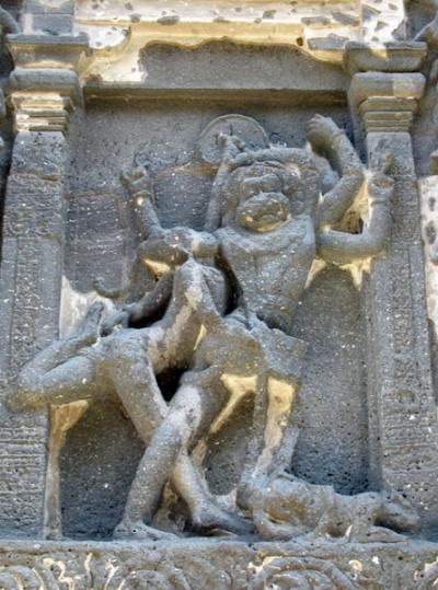 Эллора. Храм Кайлас. Рельефы