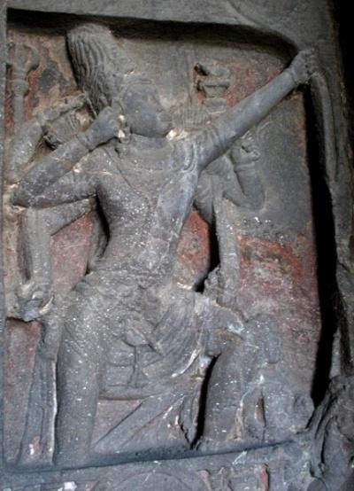 Эллора. Храм Кайлас. В галерее много прекрасных изображений Шивы, где Махадэв каждый раз предстает по-новому.