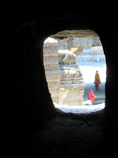 Эллора. Храм Кайлаш. Убежище