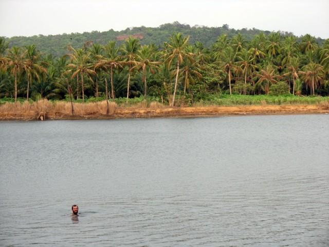 Река, на берегу которой стоит храм в Парсиникадаву