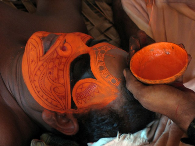 Теям в Арикади. Грим богини Чамунди