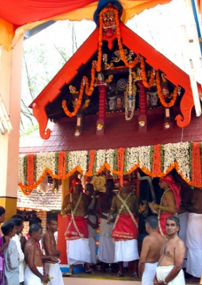 Тейям в Арикади. Храм богини Чамунди