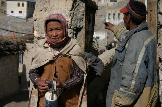 Жители деревни Киббер, долина Спити