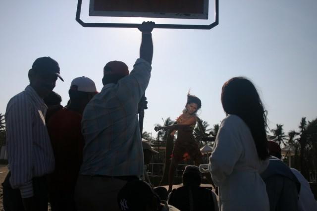 Мамалапурам. Снимается индийское кино