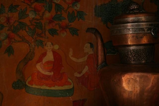 Монастырь Ки в долине Спити. Настенная роспись