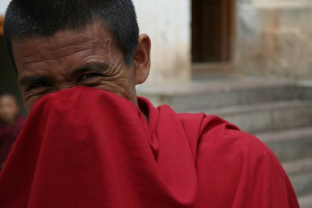 Монастырь Ки в долине Спити. Монах