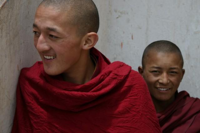 Монастырь Ки в долине Спити. Монахи