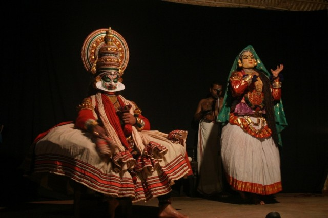 Кочин. Представление Катхакали