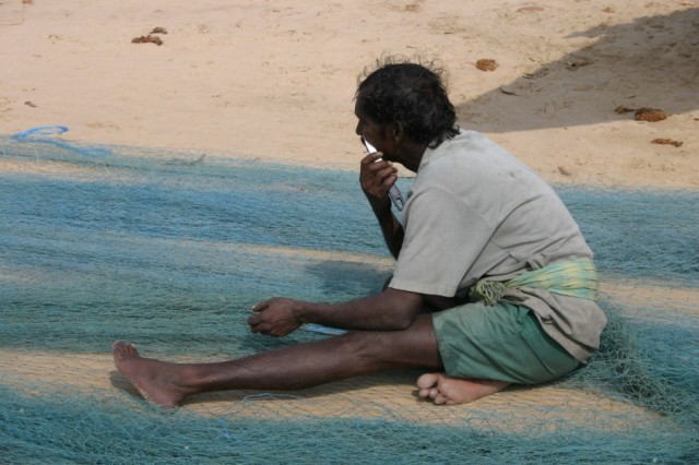 Бреющийся рыбак