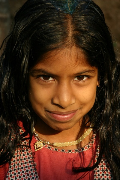 Девочка в Гокарне